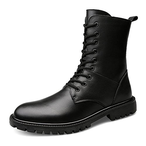 Sunny&Baby Bottines pour Hommes Block Heel Lace Up Peep Toe Couleur Unie Oxfords Leisure Shoes jusqu'à la Taille 48EU Durable