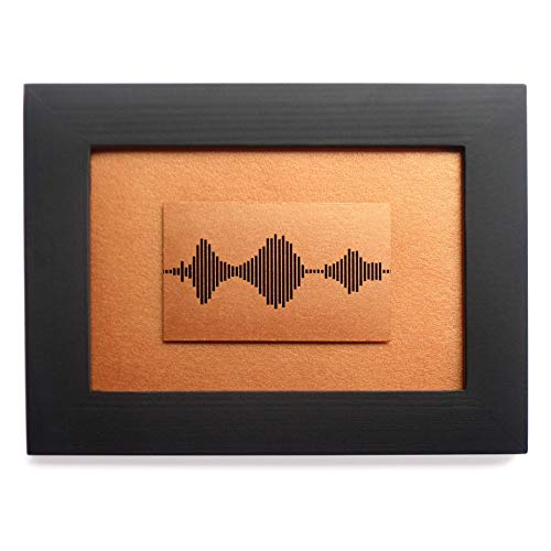 I Love You Soundwave Art, Visible Voice Bronze Print 8th Wedding Anniversary, Valentine and Christmas Gifts for him or her