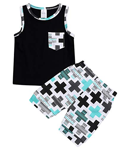 Baby Boys Girl#039s Summer Cotton Sleeveless TShirt Vest Short Pants Clothes Outfit Set