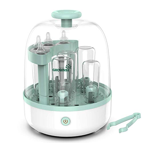Baby Bottle Sterili-zer, Bottle Steam Sterili-zer for Baby Bottles Pacifiers Breast Pumps Large Capacity and 99.99% Cleaned in 8 Mins