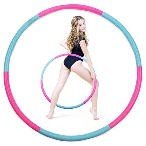 n/ Für Hula Hoop Reifen zur Gewichtsreduktion, Hula-Hoop-Reifen Fitnessübungen, Abnehmen Hula Hoop 6 Abnehmbare Abschnitte Freie Montage für Teenager Erwachsene Fitness