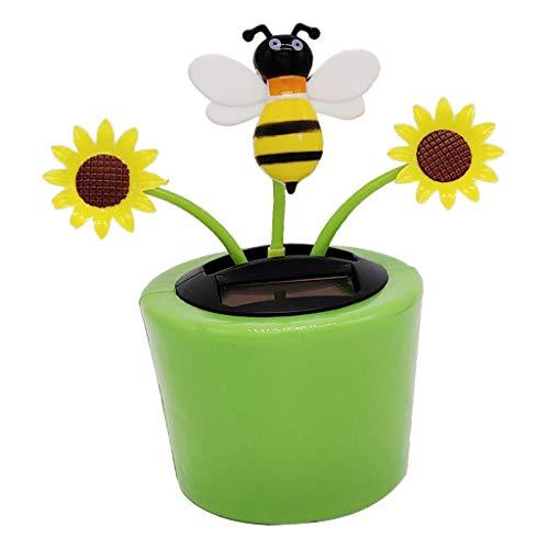 Solarbetriebene Puppe für das Armaturenbrett, Biene und Sonnenblume, ohne Markenzeichen