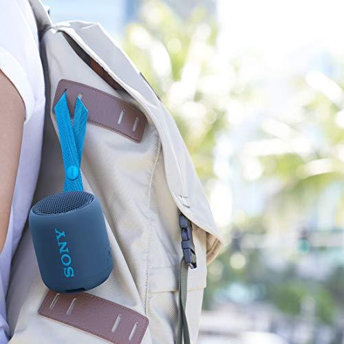 ソニーワイヤレスポータブルスピーカー:防水/防塵/Bluetooth対応/重低音モデル/マイク付き/軽量コンパクト2019年モデル/マイク付き/ブルーSRS-XB12L