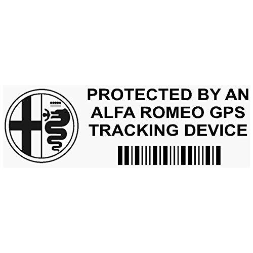 5x ppalfaromeogpsblk GPS negro dispositivo de seguimiento de seguridad ventana pegatinas 87x 30mm-car, Van alarma Tracker