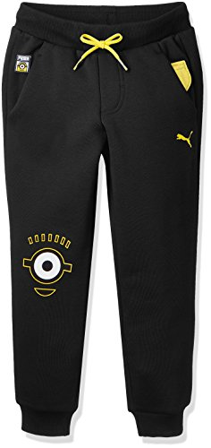 PUMA Kinder Minions Pants Hose, Cotton Black, 140
