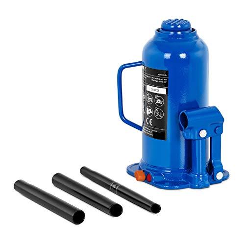 MSW Gato Hidráulico De Botella Elevador Neumático Para Coche MSW-BJ15 (Acero, Capacidad de Carga Máxima: 15.000 kg, Altura de elevación: 150 mm)