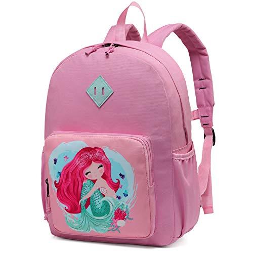 Kinderrucksack für Mädchen,Chasechic Wasserdicht Kleinkind Vorschule Kindergarten Büchertasche für Jungen Mädchen mit Brustgurt Meerjungfrau