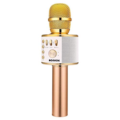 BONAOK Wireless Bluetooth Karaoke Microphone,3-in-1 Portable Handheld Karaoke Mic Speaker Machine Home...