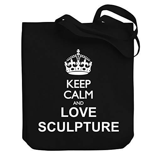 Teeburon Keep Calm and Love Sculpture Bolsa de Lona 10.5' x 16' x 4'