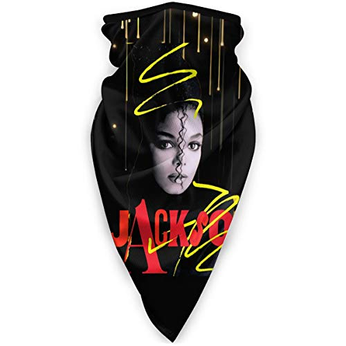 RandalSchultz Janet Jackson Neck Warmer Face Cover Shield Neck Scarf Headwear Head Wrap Balaclava Shield Unisex Windproof Breathable Reusable Anti Dust Mouth Shield