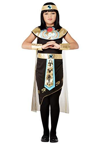 Smiffys Deluxe Egyptian Princess Costume Disfraz de princesa egipcia, color negro, S-4-6 Years (71051S)