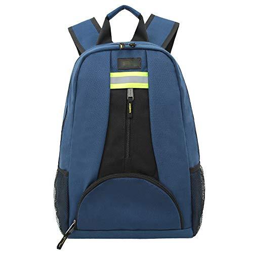 Bolsa de Herramientas Función de herramienta profesional Mochila multifunción Multi-bolsillo Técnico bolsa a prueba de agua (Azul Negro) Bolsas Portaherramientas ( Color : Blue , Size : One size )