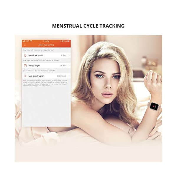 Reloj Inteligente Mujer Hombre, Smartwatch con Pulsómetro, Pulsera Actividad Inteligente con Cronómetros Podómetro… 6