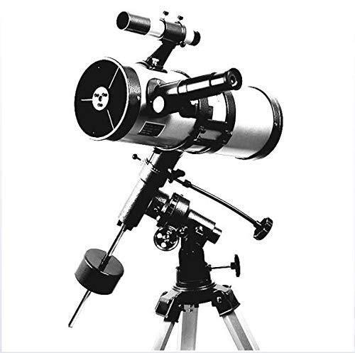 RONGW JKUNYU Astronomisches Teleskop 1000 114mm äquatoriale Montierung Raum Sternenteleskop High Power Star/Mond/Saturn/Jupiter Ferngläser
