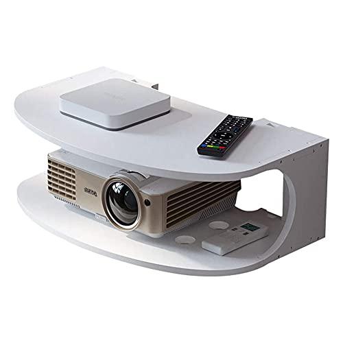 Soporte de montaje en pared Caja de TV Decodificador decodificador Caja de cable para enrutador WiFi Reproductor de DVD Estante de dispositivo de transmisión Estante de almacenamiento multimedia flo