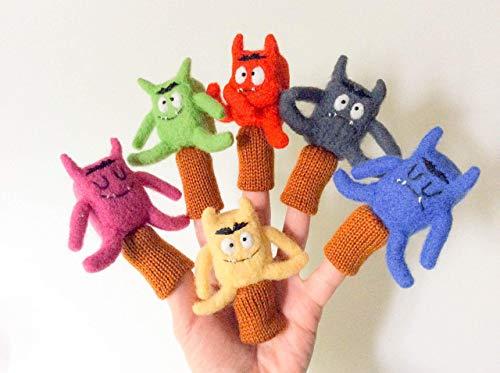 6 marionnettes a doigts Les couleurs et les émotions