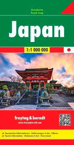 Japón, mapa de carreteras. Escala 1:1.000.000. Freytag & Berndt.: Wegenkaart 1:1 000 000 (Auto karte)
