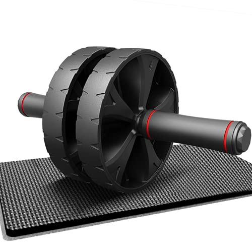 Rueda abdominal para entrenamiento abdominal a partir de rodillos, para entrenamiento abdominal, para casa, color negro