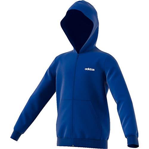 adidas Jungen Essentials Linear Full Zip Sweatjacke Blau, Weiß Jacken, 128