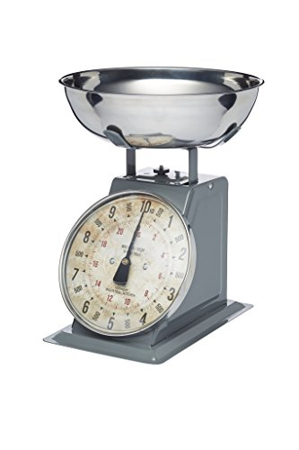 KitchenCraft Industrial Kitchen High-Capacity Heavy-Duty Mechanical Kitchen Scales, 10 kg (22 lbs)
