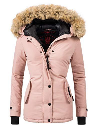 Navahoo Damen Winter Jacke Winterparka Laura Rosa Gr. L