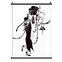 Aya Kato アートイラスト [インテリア 壁紙用] 壁紙ポスター 掛け軸 壁掛け 掛け画 タペストリー 部屋飾り 壁の絵 壁掛け ソファの背景絵画 壁アート 40x60cm;50x70cm