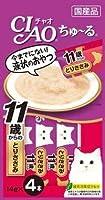 【12個セット】チャオ (CIAO) 猫用おやつ Pureちゅ~る とりささみ 14g×4本