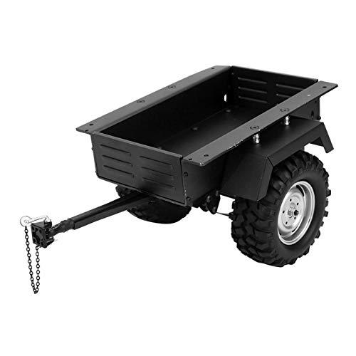 Demeras Coche de Remolque de aleación de Aluminio Altamente simulación RC Coche Modelo de vehículo Juguete para niños para 1/10 Coche RC(Negro)