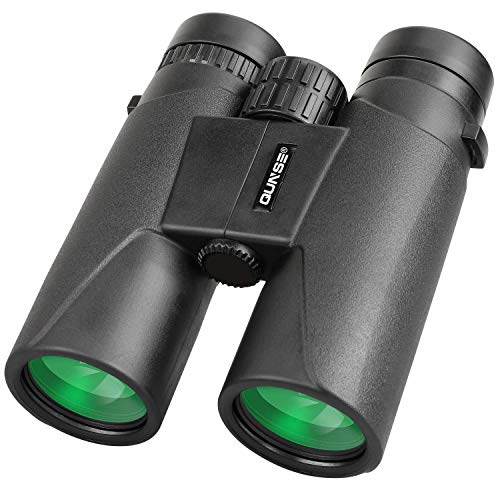 QUNSE Prismáticos Profesionales, Compactos 10x42 HD, Prismas Superiores Bak4 y Lentes ópticos FMC, para Observación de Aves, Camping, Conciertos, Caza, Safaris al Aire Libre (12x42)
