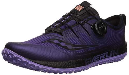 Saucony Women's Switchback ISO Road Running Shoe, Purple/Black, 9 M US