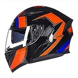 Sconosciuto Casco moto integrale a doppia visiera Casco moto omologato DOT Caschi moto Casco...
