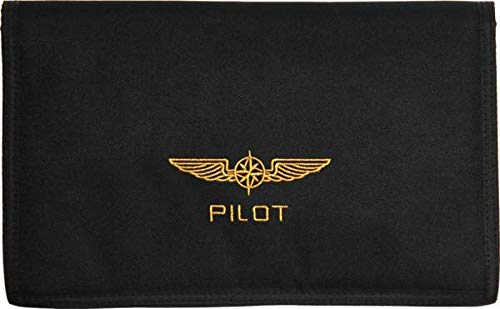 Design 4 Pilots docubag, porte documents pour pilote, porte cartes VFR et carnet de vol, for Aviation Bleu/Blue