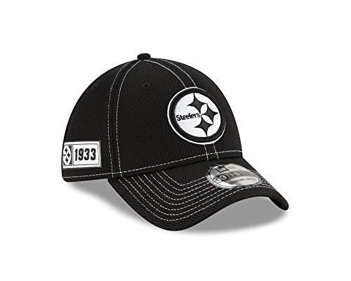 New Era Gorra Pittsburgh Steelers Sideline Road Black NFL 39Thirty Elastica