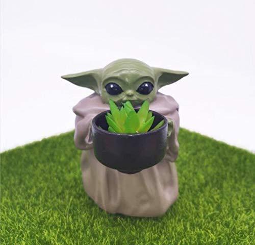 Lifattitude Mini Baby Yoda Pflanzgefäß, Blumentopf, 10,7 cm,