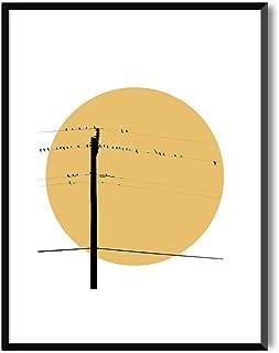 MILUKA Láminas Decorativas para enmarcar colección Birds AT Sunset | Summer Sunset | Tamaño 20x30cm, 30x40cm, 50x70cm (20 x 30 cm)