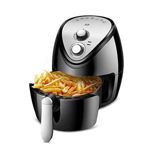 HFXZ2018 Tragbare Air Fryer, 1400W 304 Edelstahl Heizrohr Multifunktions-Backofen, 4.5L Friteuse für Fry, Grillen, Backen, Stir Fry