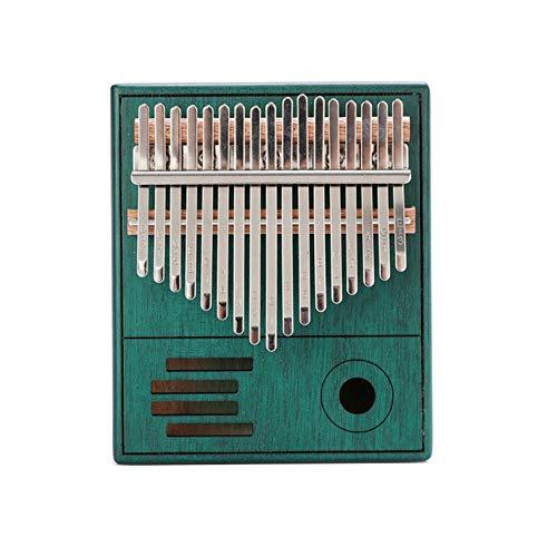 WWZL Piano de Pulgar de 17 Tonos Kalimba con Instrucción de Estudio y Tune Hammer, Piano de Dedo de Madera Africano Portátil para Niños Adultos Principiantes,Peacock Blue