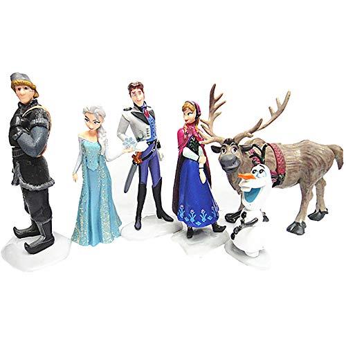 JYZ Frozen Elsa Doll con Largo Cabello Rubio y Atuendo Azul Inspirado en Frozen 2 - Juguete para niños de 3 años en adelante Muñeca Princesa Anna Modelo de Juguete Adornos para decoración de Pasteles