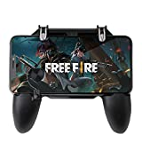 ✔【ERGONOMIC CONTROLLER & PHONE SECURE LOCKED IN PLACE】: People may get hands cramps after playing hours of battle royal games with cellphone. DELAM gamepad is specially designed for mobile shooting games, it extends your phone into a traditional Xbox...