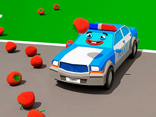 Lernen Farben mit neugieriges Polizeiauto