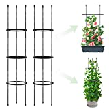 2 Pack Garden Trellis, 2 in 1 Plant Cages & Supports for Vines Crop,...