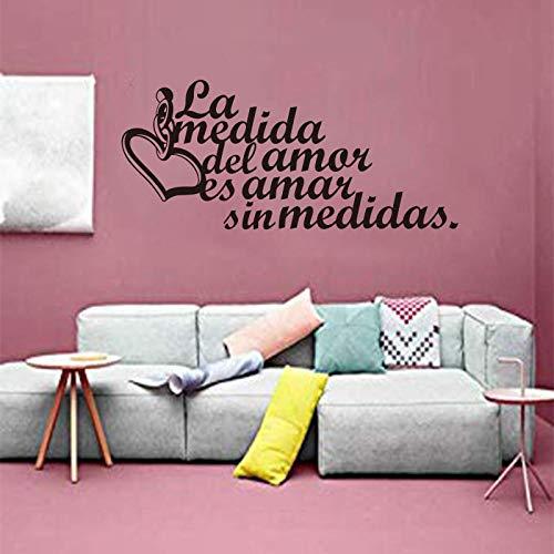 KDSMFA - Adhesivo decorativo para pared de vinilo tallado con texto en inglés 'Reglas de la casa española', extraíble, póster de 55 x 125 cm
