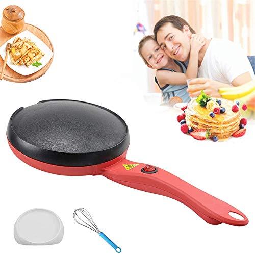 Padella elettrica per crepe, mini macchina per pancake antiaderente portatile con ciotola per pastella e frusta per uova, utensili da cucina per la cucina domestica per crepes, frittelle, tortillas