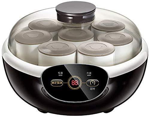 YZHM Joghurt-Maschine, Auto Timer mit kostenlosen Lids: Perfekt für Hausgemachte Baby-Joghurt, Kinderjoghurt, oder Grab and Go Frühstück