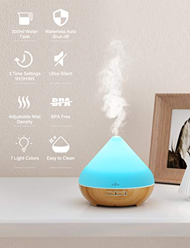 Anjou-Essential-Oils-Diffuser-300ml-Aromatherapy-Diffusers-Ultrasonic-Aroma-Humidifier-with-Cool-Mist-Waterless-Auto-Shut-Off-4-Timer-Settings-7-Color-LED-Lights