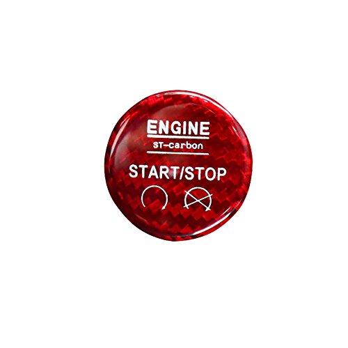 QHCP - Fundas de decoración para Interruptor de Arranque y Parada del Motor del Coche para Ford Mustang 2015 2016 2017 2018