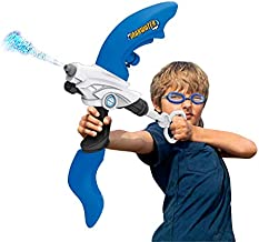 SainSmart Jr. Kids Squirt Water Gun Bow Toy with Swimming Goggle, Super Soaker Blaster Games Summer Outdoor Yard Activity with Capacity 800CC for Kids and Teens, Blue