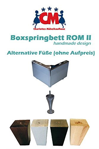 Boxspringbett 180×200 ROM II Beige Handarbeit Bild 4*