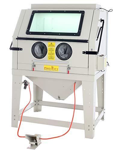 Pro-Lift-Montagetechnik Sandstrahlkabine 990 Liter inkl. Zubehör, eingebaute Absaugung und Öffnungsklappe, SBC990AJ, 01650