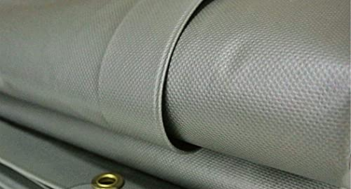Silver 20 MIL Vinyl TARP Extreme Heavy Duty PVC TARP Heat Seam (Choose Your Size) (20x24)